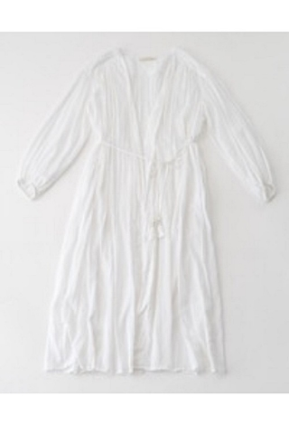CTN VOIL GATHER GOWN / WHITE