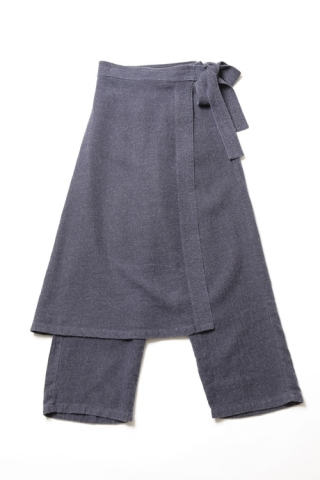 Apron-skirt Pants / Navy