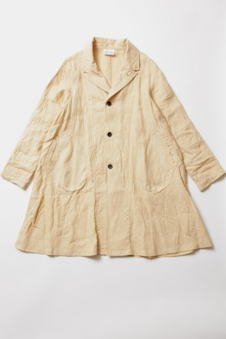 RAGLAN LINEN COAT / YELLOW