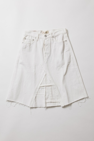 Remake Denim Skirt / WHITE