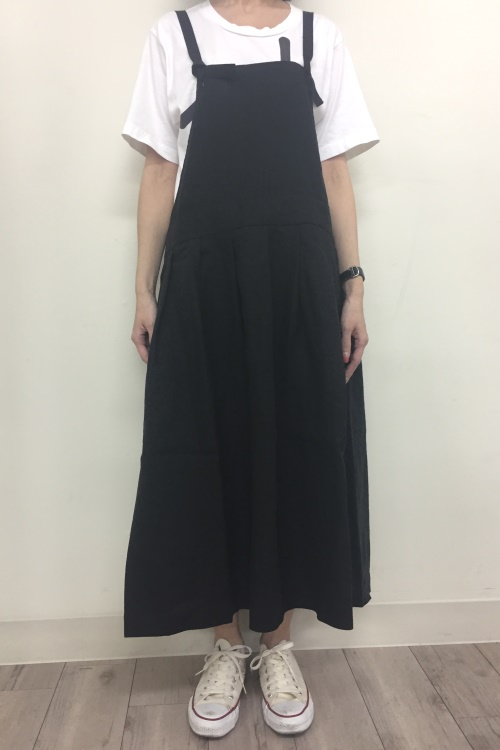 LINEN APLON DRESS