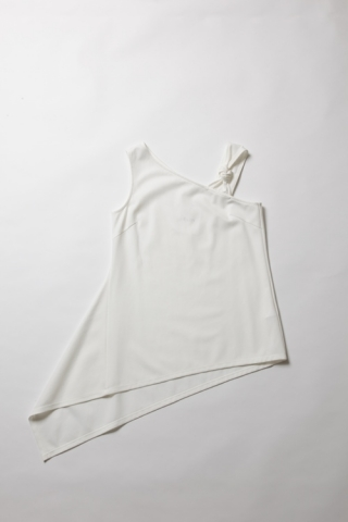 Raschel asymmetry tank / Off White