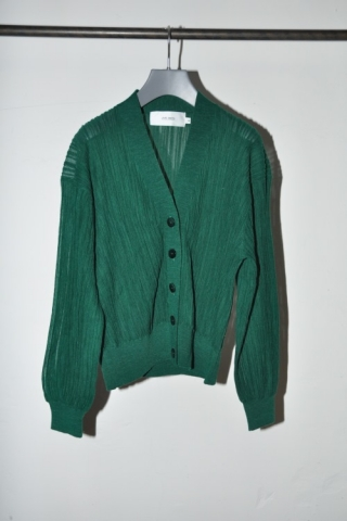 RANDOM PLEATS CARDIGAN / GREEN