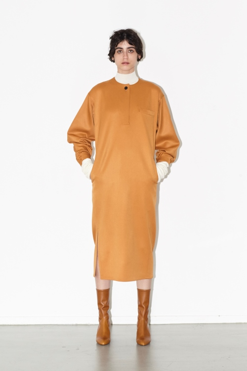 Wool chino 1B dress / ORANGE