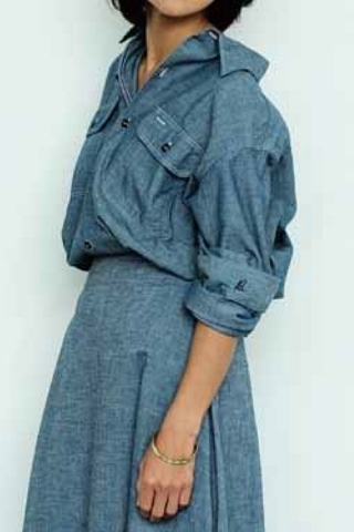 HAMPTON CHAMBRAY SHIRT(OW)