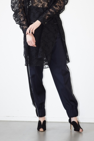Piping pants / BLACK