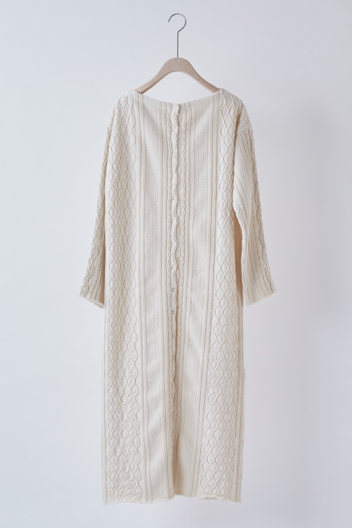 Back-open Cable Dress / OFFWHITE