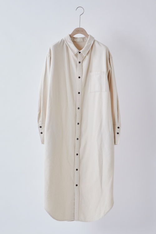 Cottonflannel Shirts Dress / OFFWHITE