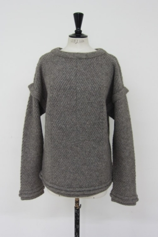 Alpaca knit pullover / Md,GRAY