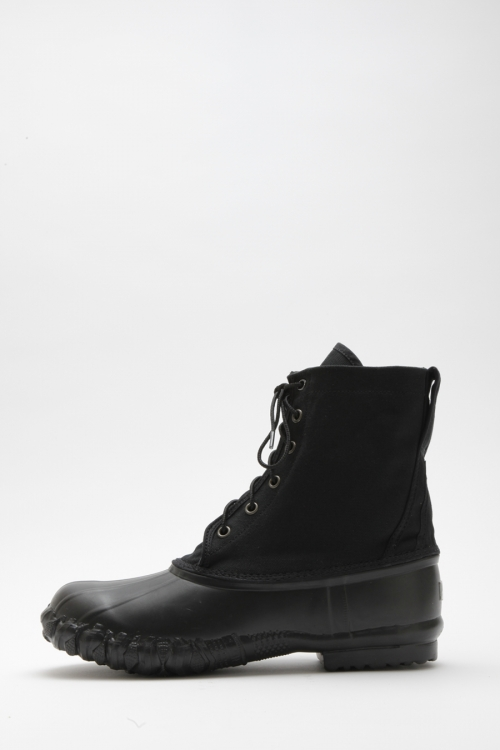 DUCK BOOTS CANVAS WATERPROOF / BLACK