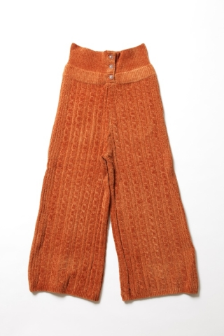 CABLE KNIT PANTS / RUST