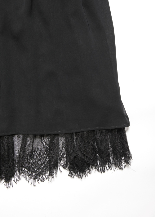 Lace layered skirt/ Black