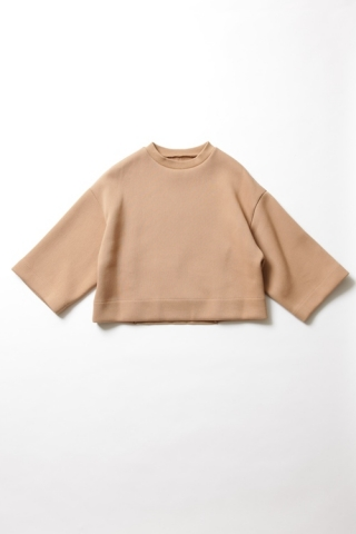 CROPPED SWEAT / CAMEL