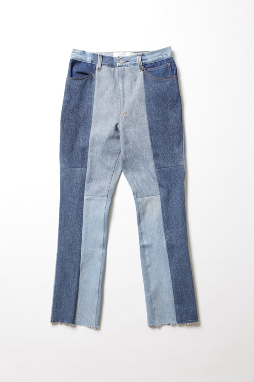 REMAKE DENIM TIGHT STRAIGHT / BLUE