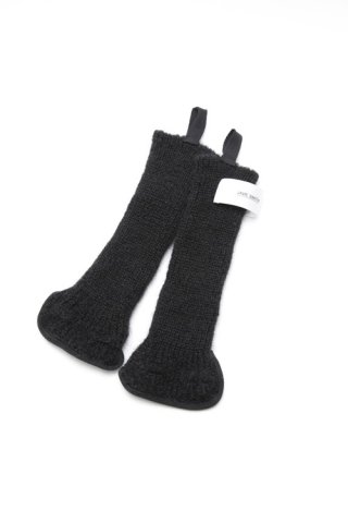 FINGERLESS KNIT GLOVE / BLACK