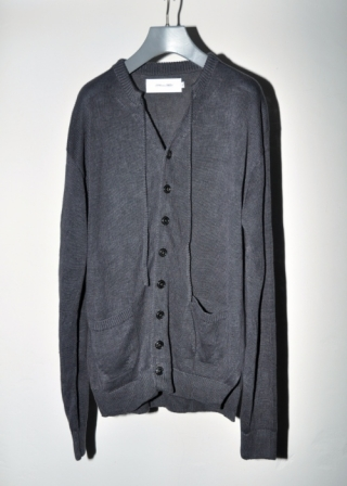 KNIT CARDIGAN / CHARCOAL