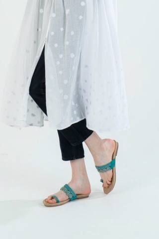 STRAP SANDAL / TURQUOISE